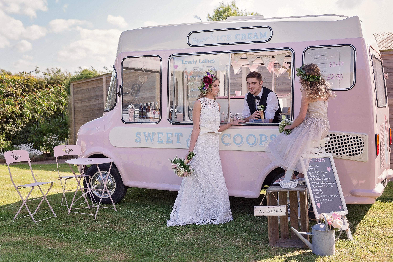Vintage Ice Cream Van to hire for Weddings