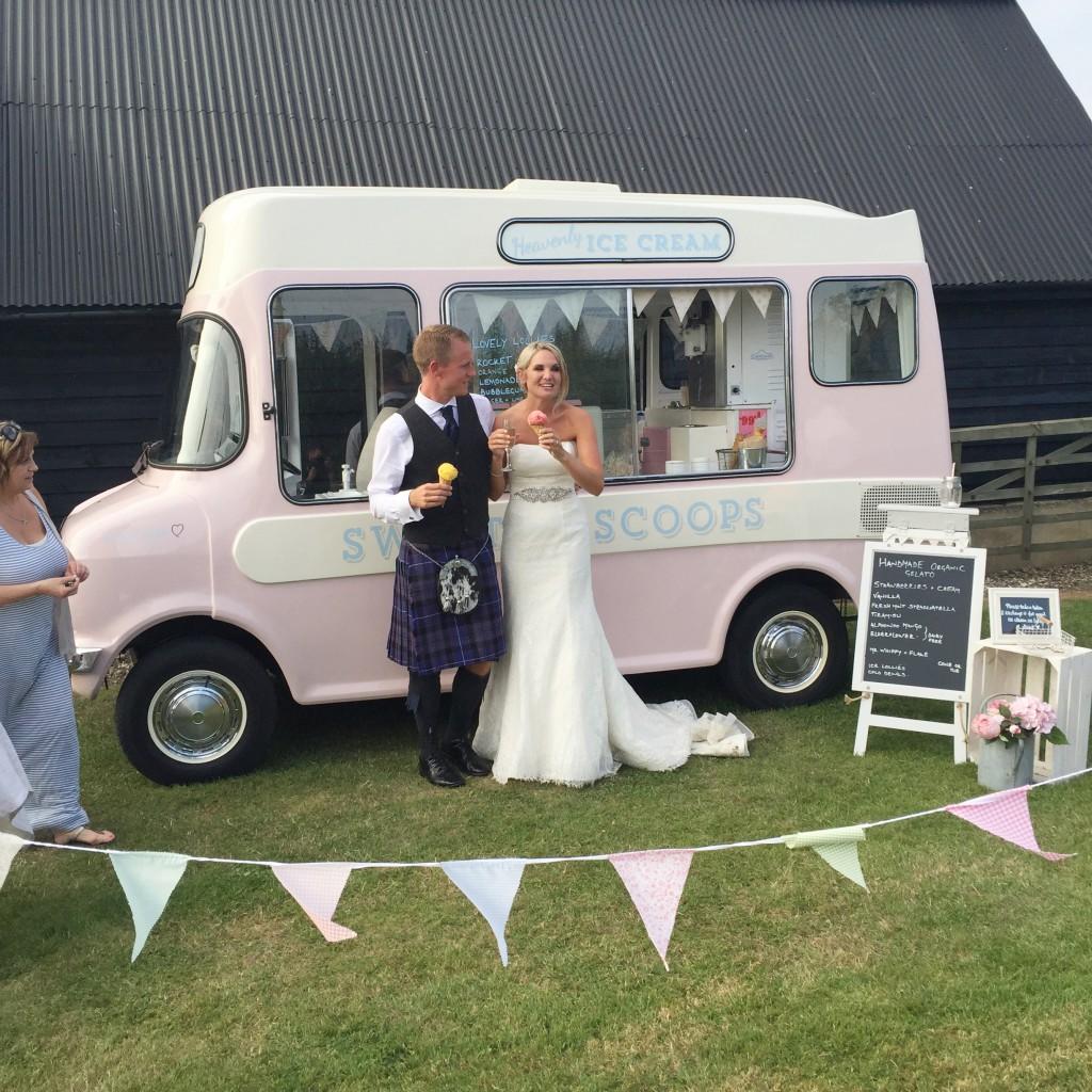 wedding bunting and ice cream
