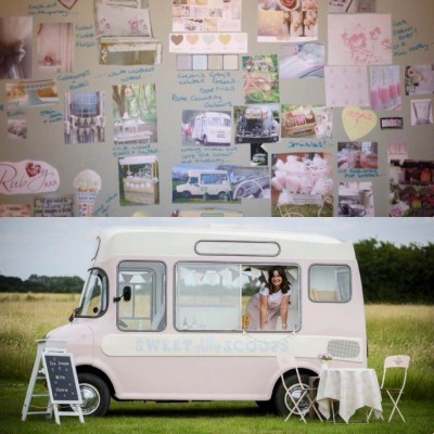 Sweet Ally Scoops Ice Cream Van and mood board