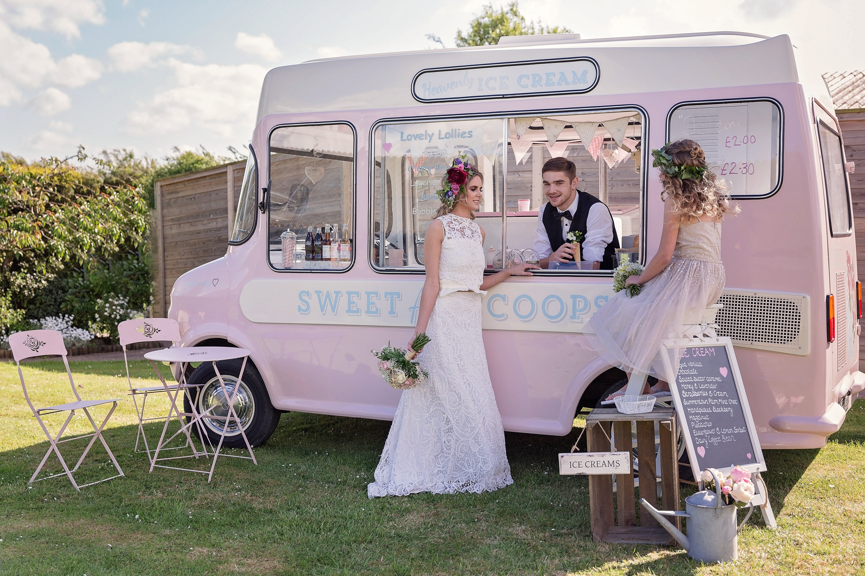 Vintage Ice Cream Van to hire for Weddings